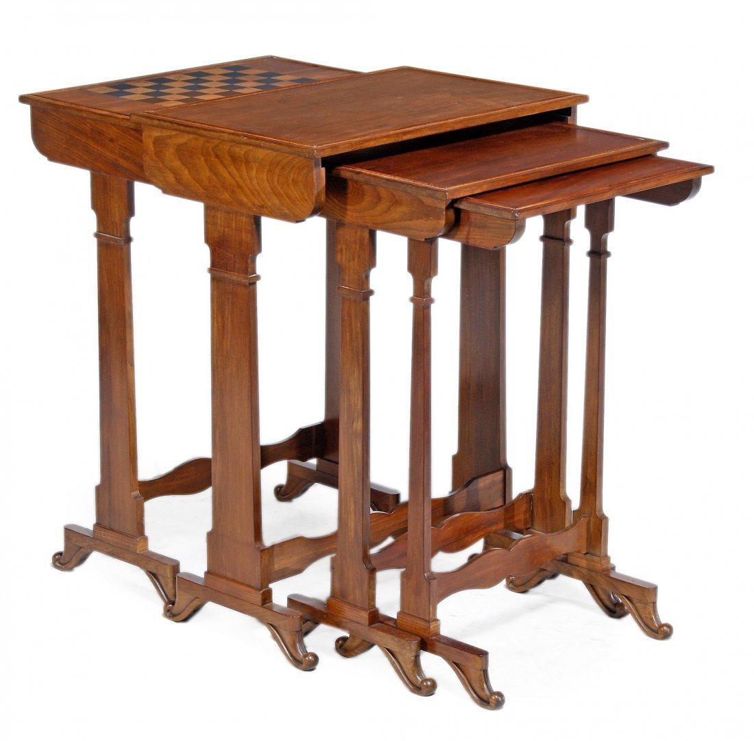 A William IV nest of four quartetto tables, circa 1835