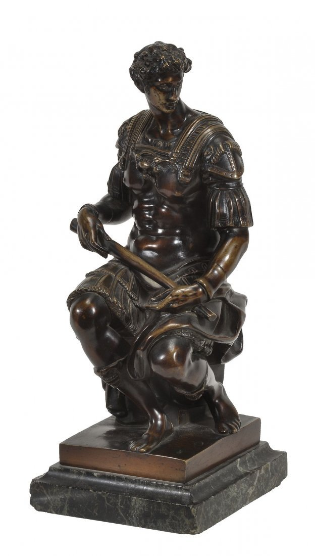 After Michelangelo Buonarroti, a patinated bronze model