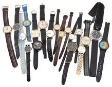 A collection of gentleman's and lady's wristwatches,