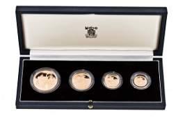 Elizabeth II gold proof set 1982 comprising