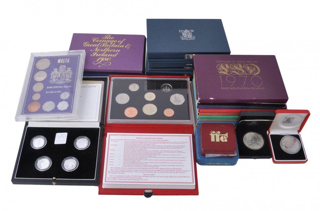 Royal Mint proof year sets , 1970-1978, 1980-1986