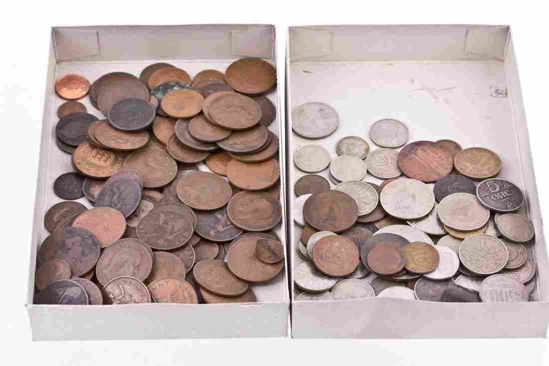 British and World coins, silver and base, includes