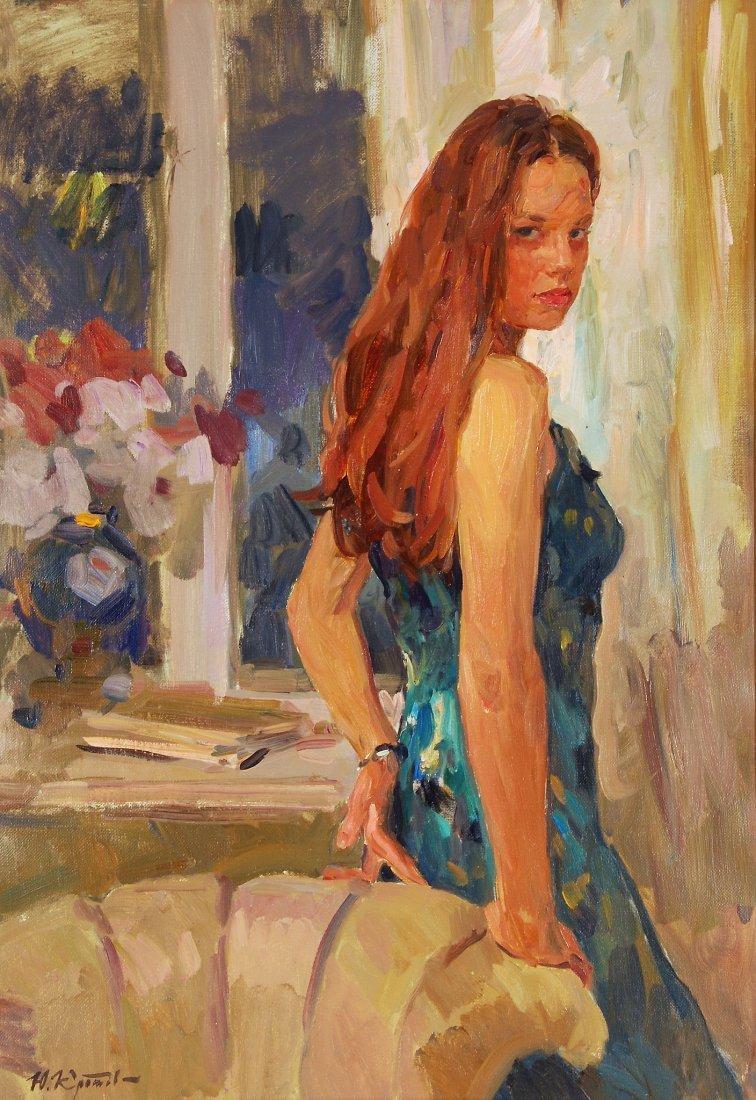 Yuri Krotov (b. 1964) - Evening portrait