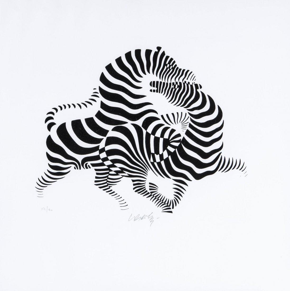 Victor Vasarely (1906-1997) - Zebra Couple
