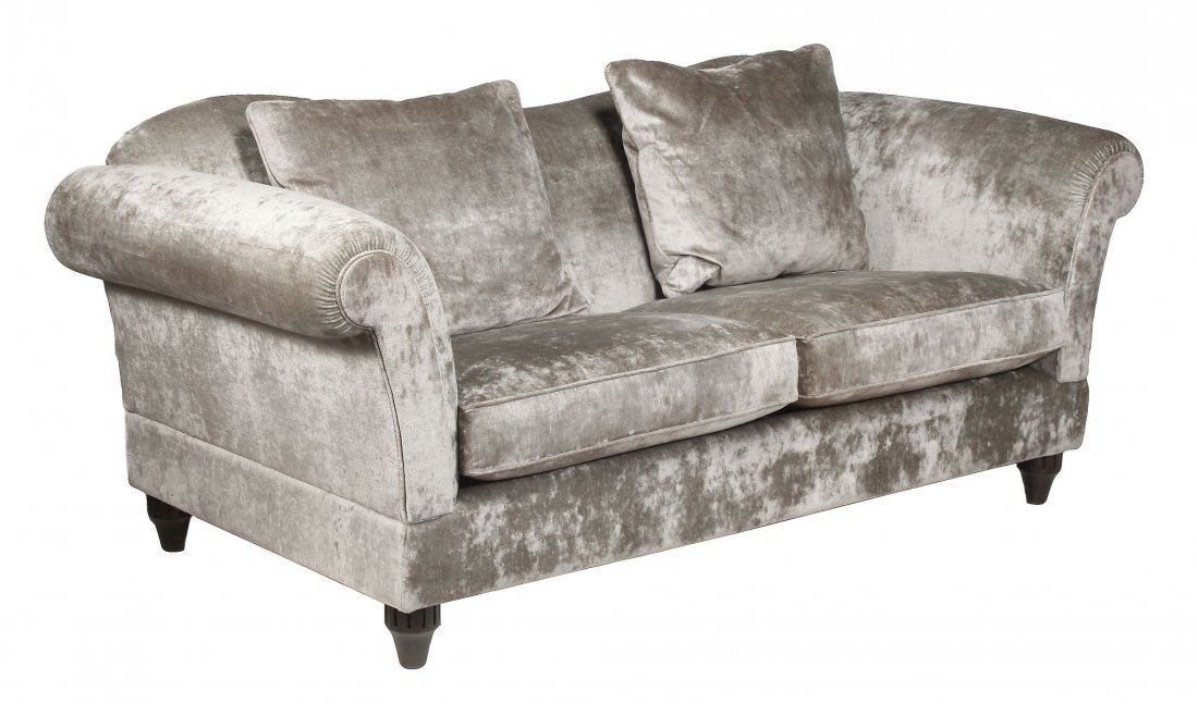 An upholstered sofa by John Sankey, of recent