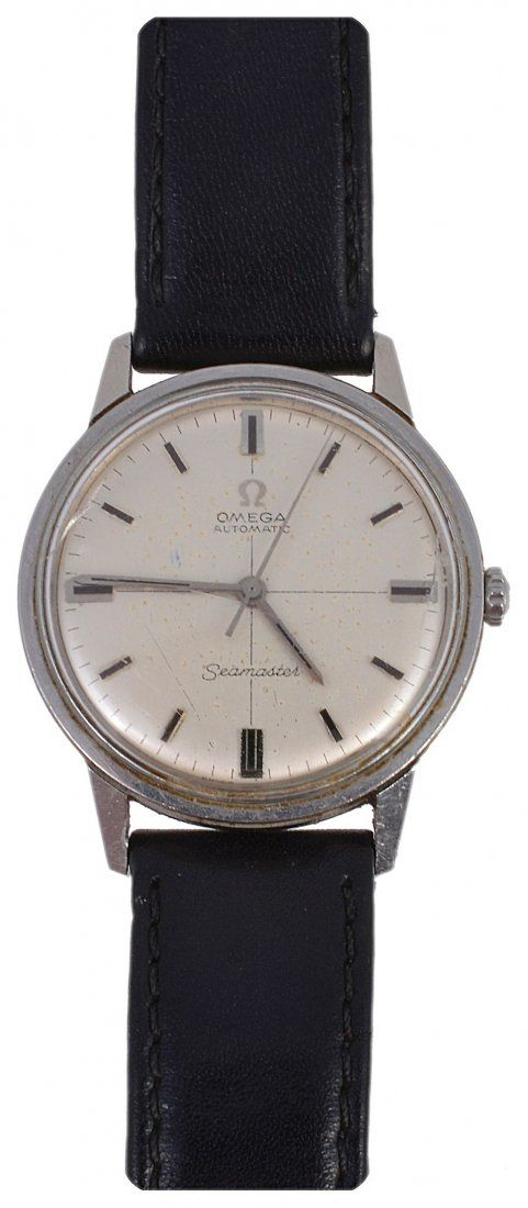 Omega, Seamaster, a gentleman's stainless wristwatch,