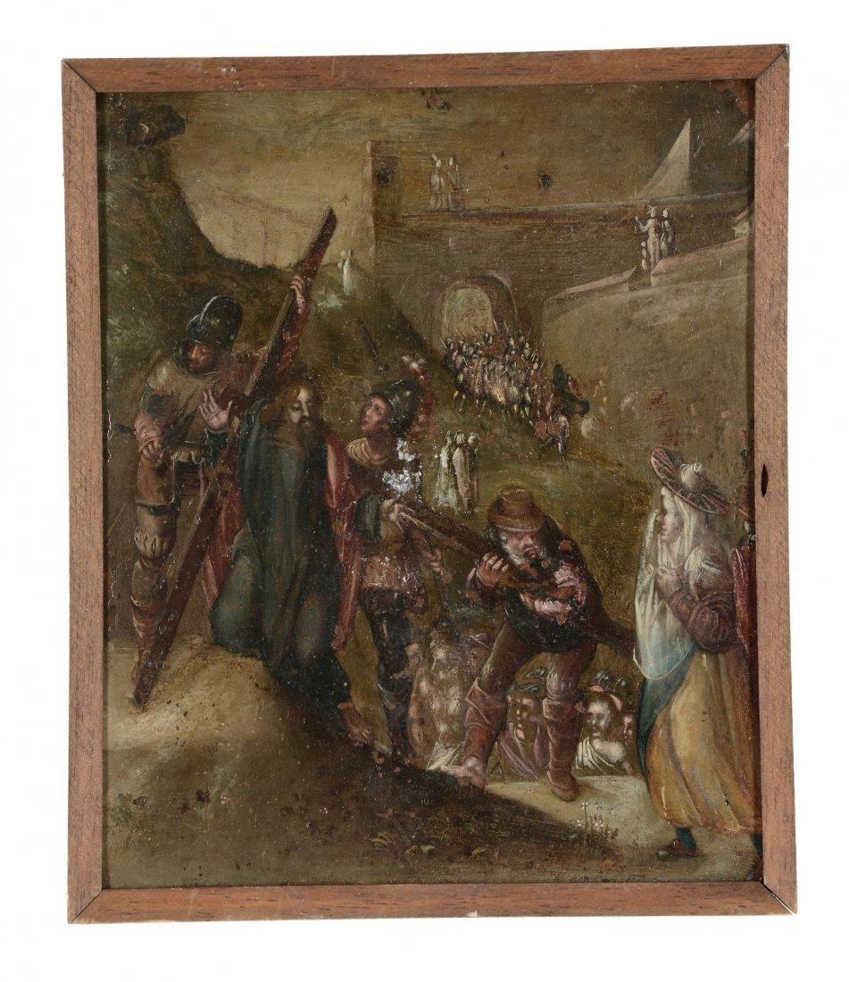 Manner of Adam Elsheimer - Christ carrying the cross to