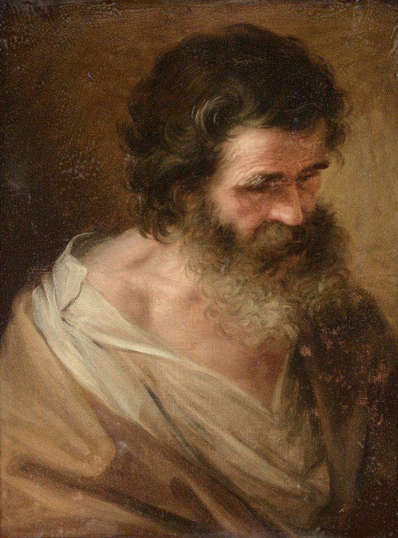 Manner of Domenico Fetti - Portrait of a bearded saint