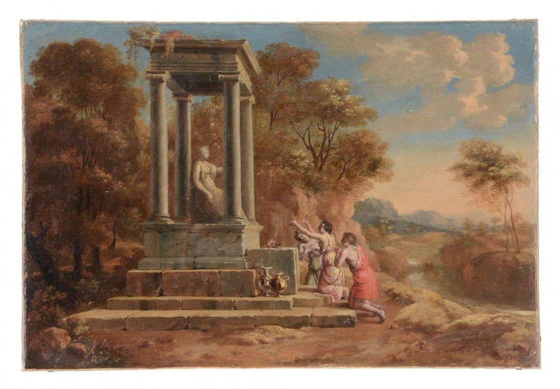 French School (19th century) - Sacrifice to pagan deity