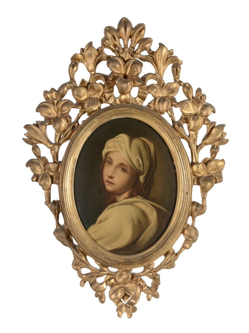 After Guido Reni - Portrait of a girl, said to be