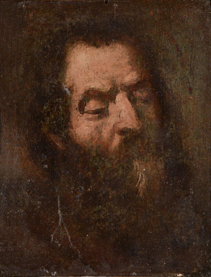 Follower of Rembrandt - Head study