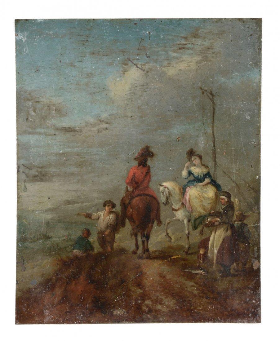 Follower of Philip Wouwerman - Figure on horseback,