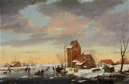Circle of Charles Henri Joseph Leickert - A winter