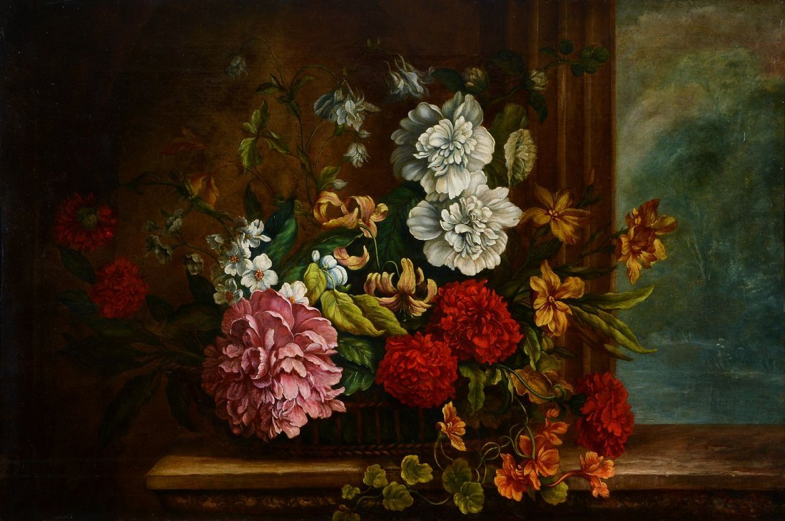 Manner of Jakob Bogdani - Still life of flowers in a
