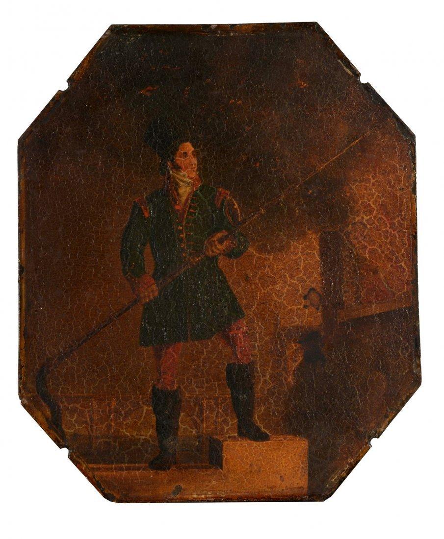 English School (18th Century) - Portrait of a fireman