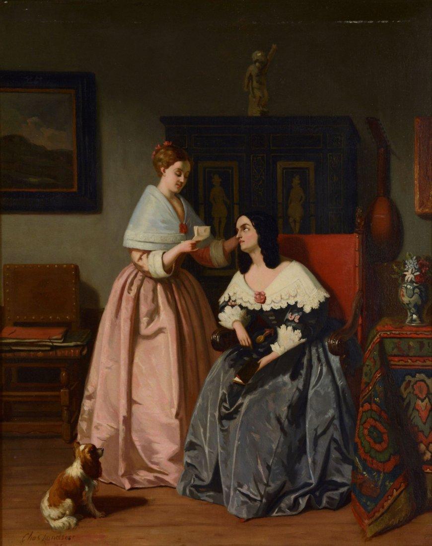 Charles Landseer (1799 - 1879) - Opening of the letter