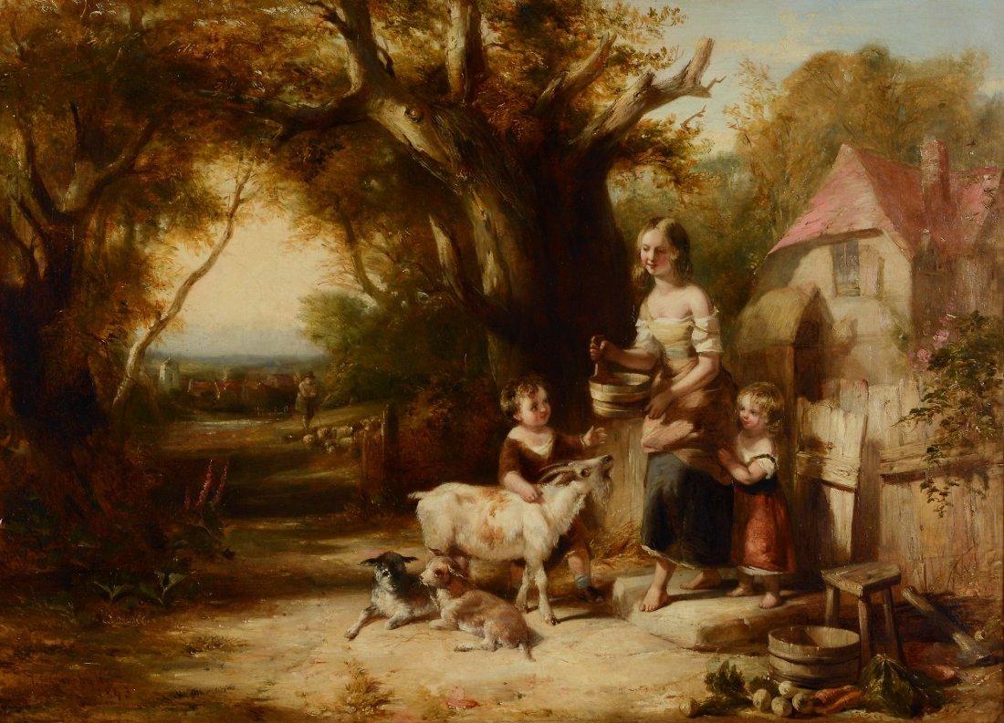 Thomas Falcon Marshall (1818 - 1878) - Feeding the Goat