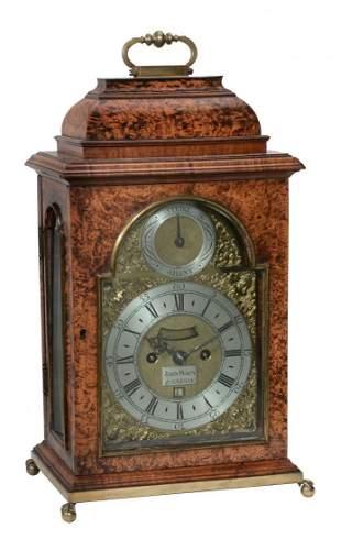 A fine and rare George I brass mounted lampblack