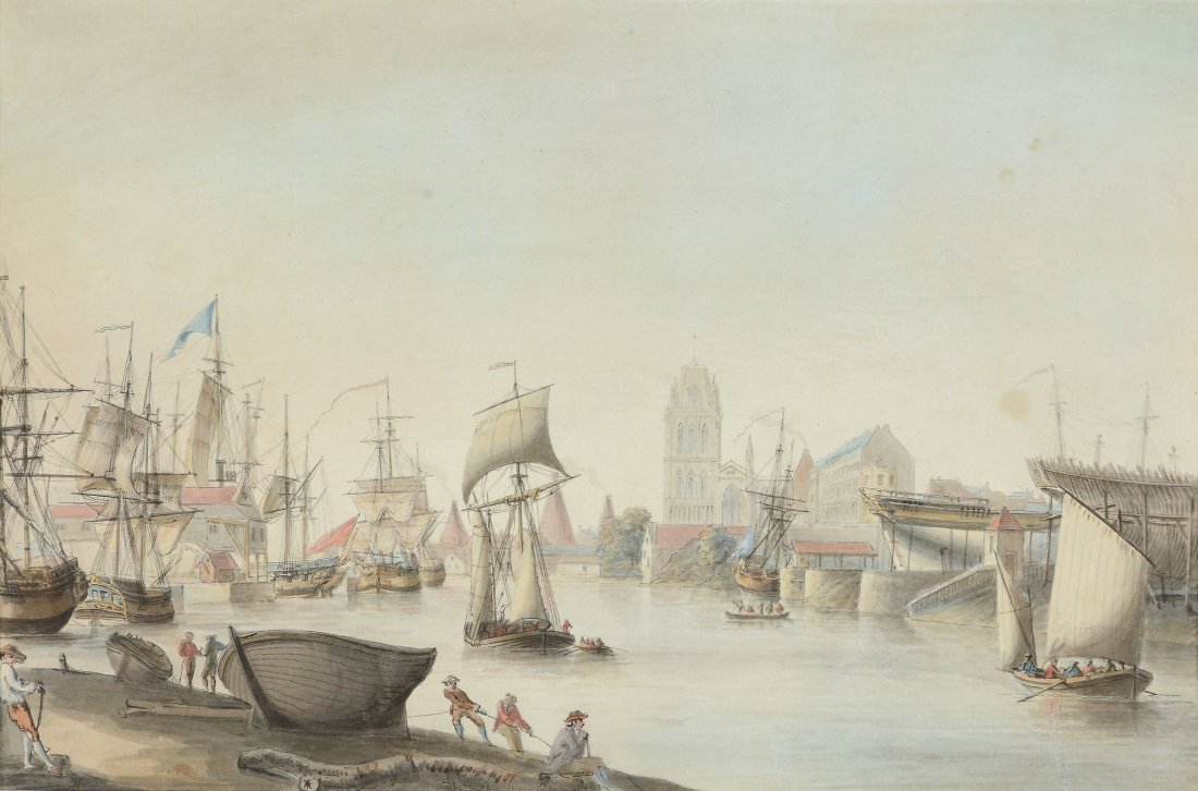 Nicolas Pocock (1740-1821) - St. Mary Redcliffe and the