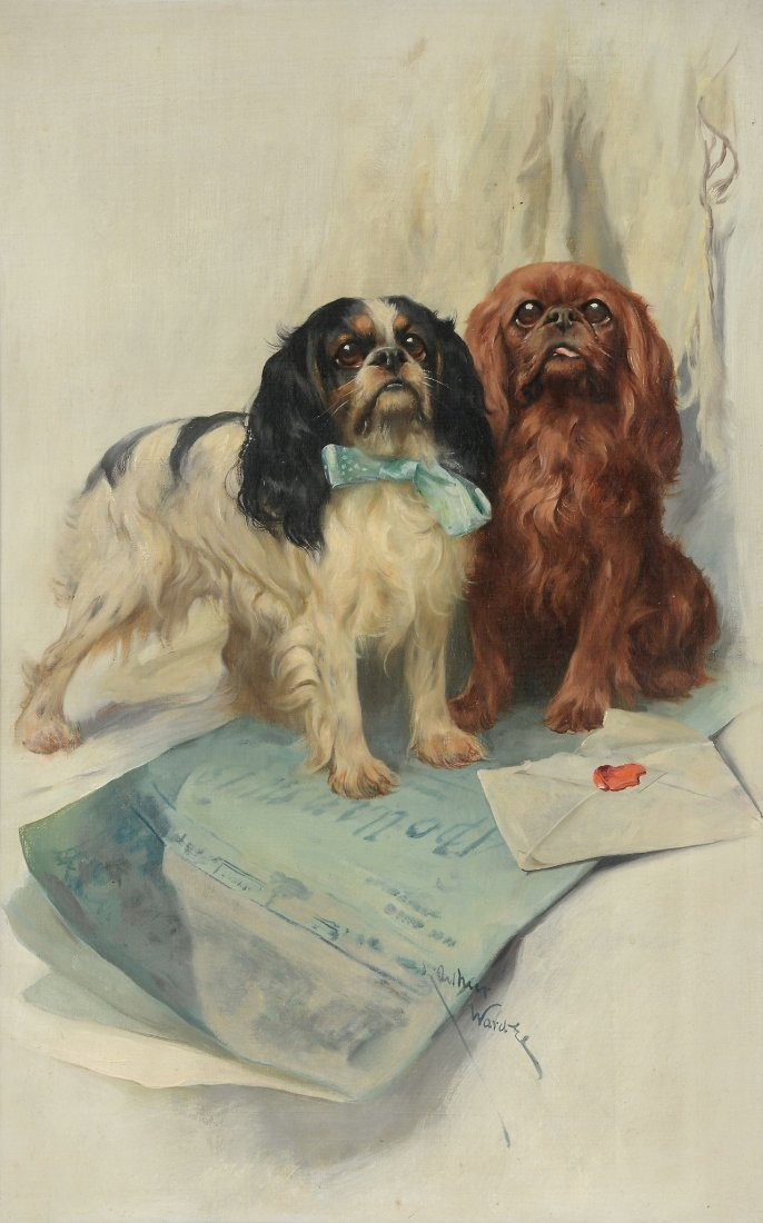 Arthur Wardle (1864-1949) - A portrait of two Cavalier