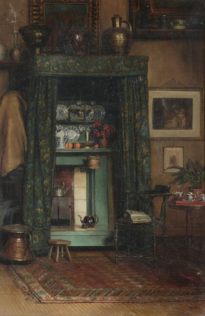 Catherine Mary Wood  (1860-1939) - An interior