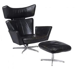 Arne Jacobsen for Fritz Hansen, an Ox lounge chair and