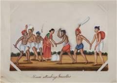 A set of twelve 19th Century Indian school gouache