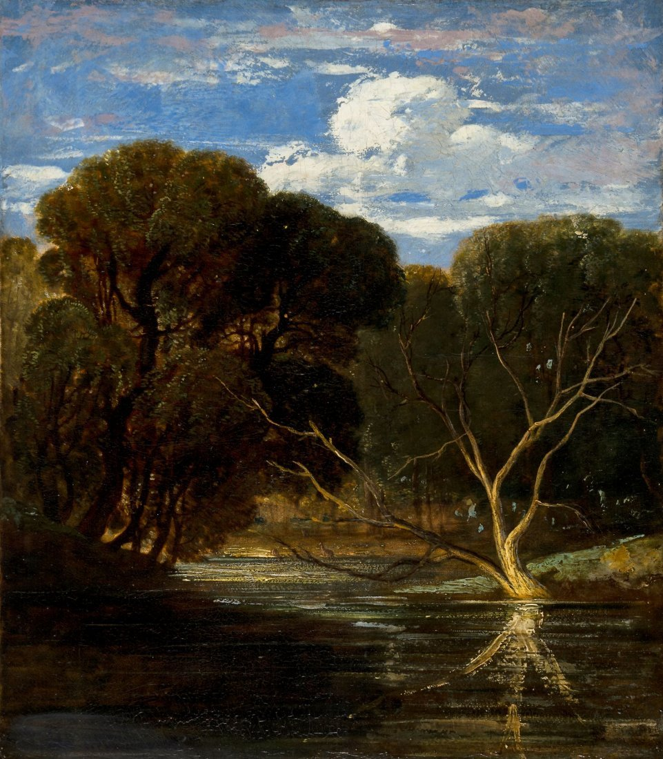 William James Muller (1812-1845) - A woodland pool with