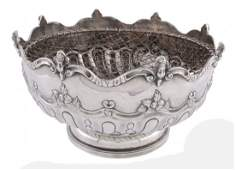A late Victorian silver pedestal rose bowl by Charles