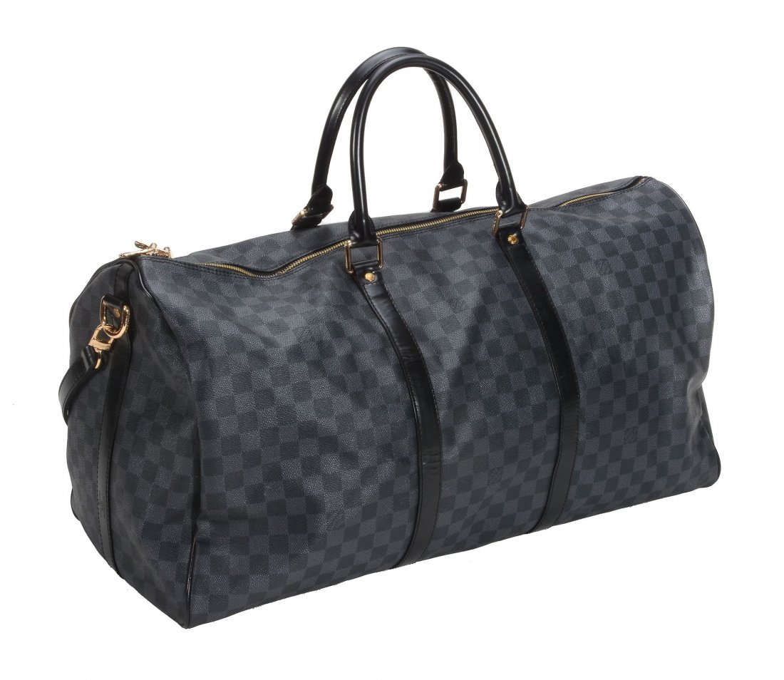 Louis Vuitton, a keepall in Damier Graphite canvas