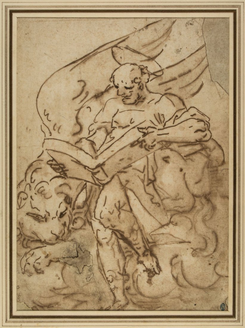 Luca Cambiaso (1527-1585) - St Jerome with an open