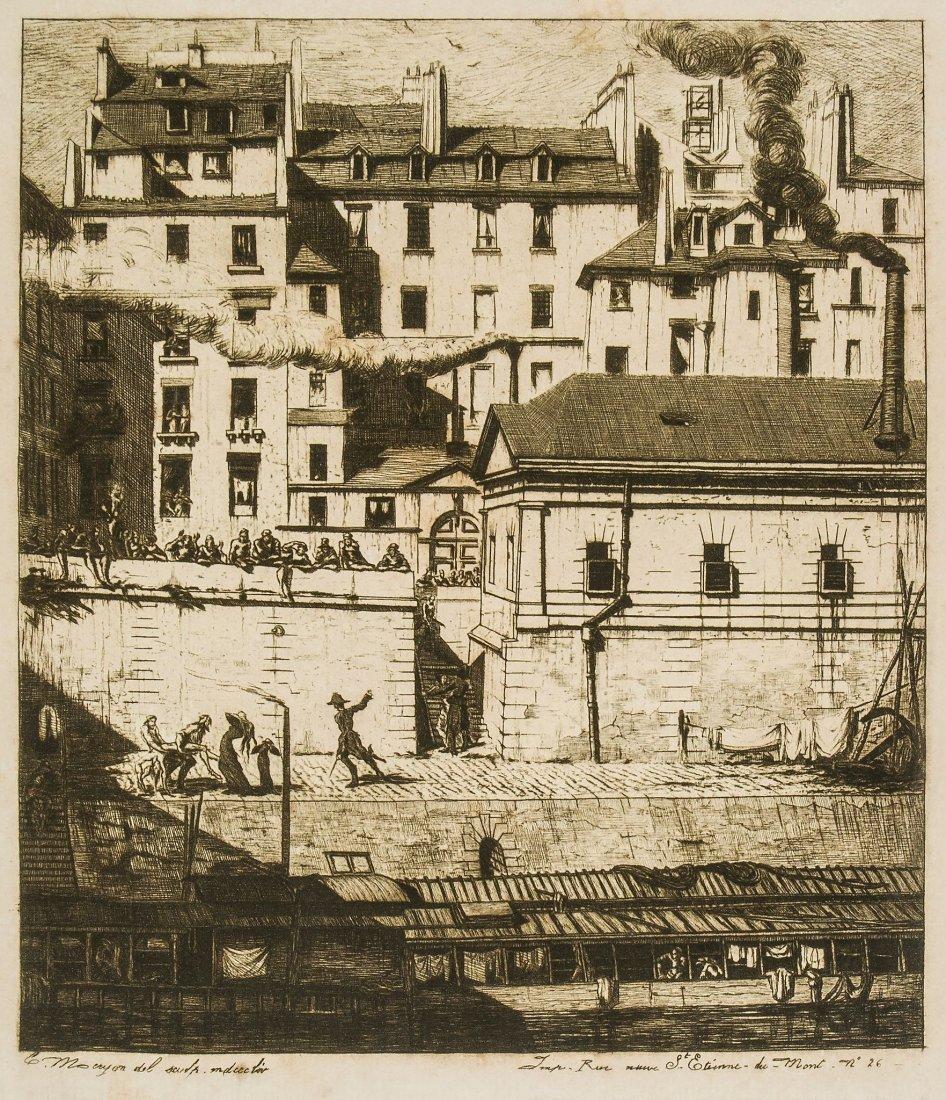Charles Meryon (1821-1868) - La Morgue