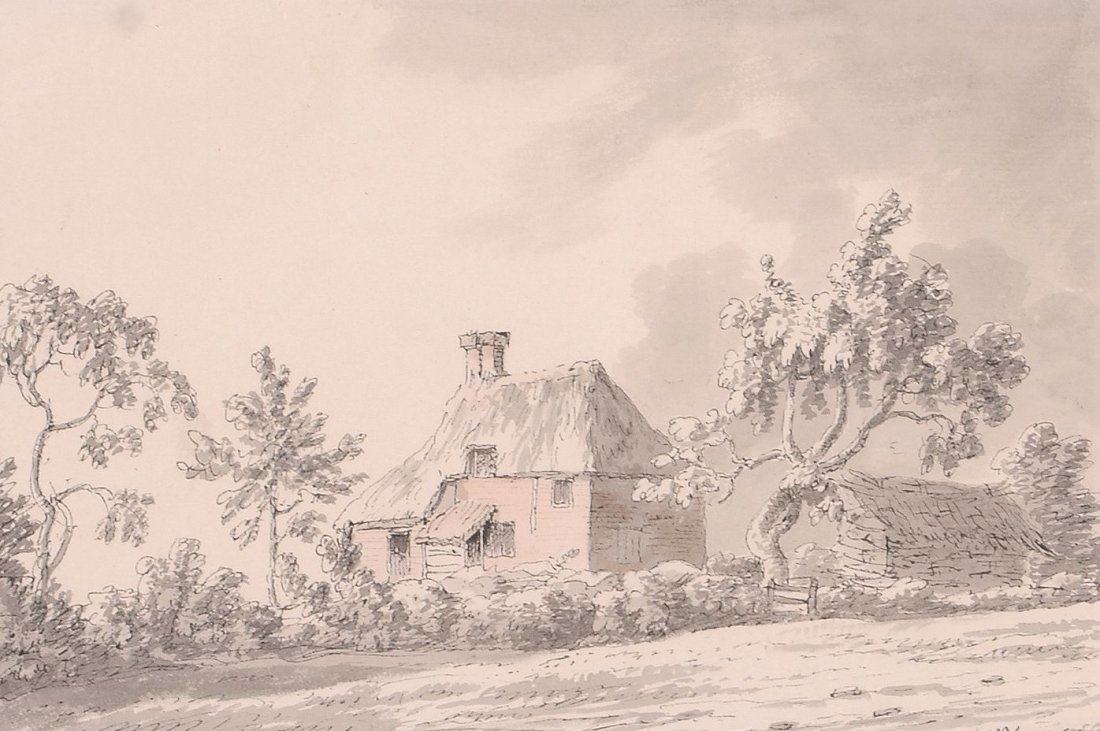 Joseph Farington (1747-1821) - Thatched cottage
