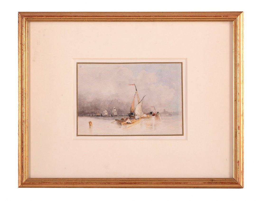 John Wilson Carmichael (1800-1868) - Fishing Boats at - 2