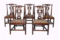 -108 A set of ten George III mahogany dining chairs,
