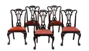 A set of ten mahogany dining chairs in George III