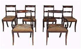 A set of six Regency dining chairs, circa 1815, to