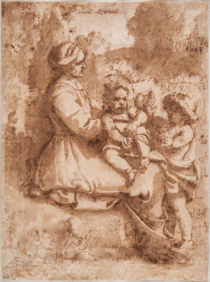 Follower of Annibale Carracci (1560-1609) - Virgin and