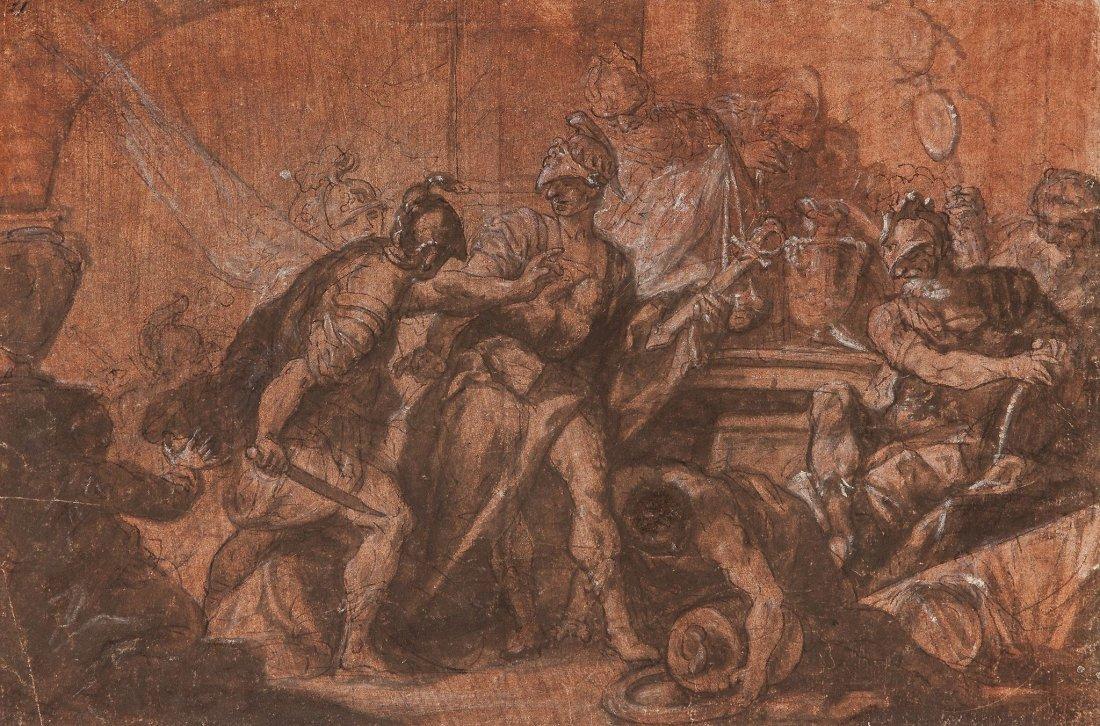 Marco Marcola (1740-1793) - Classical battle scene