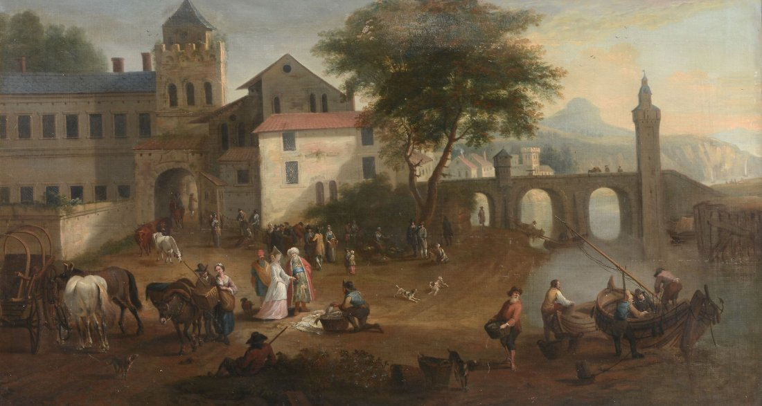 Attributed to Joseph Roos (1726-1805) - A market scene