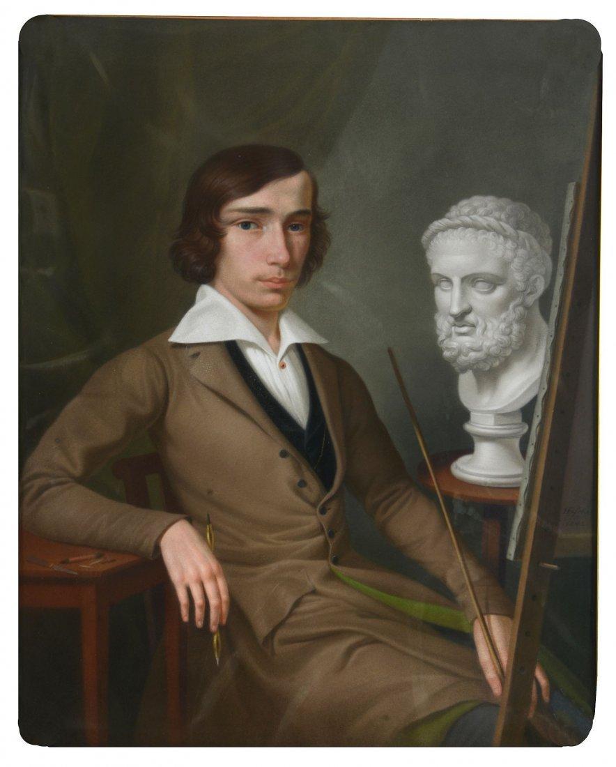 Heinrich Fischer (1820-1886) - Self-portrait at the