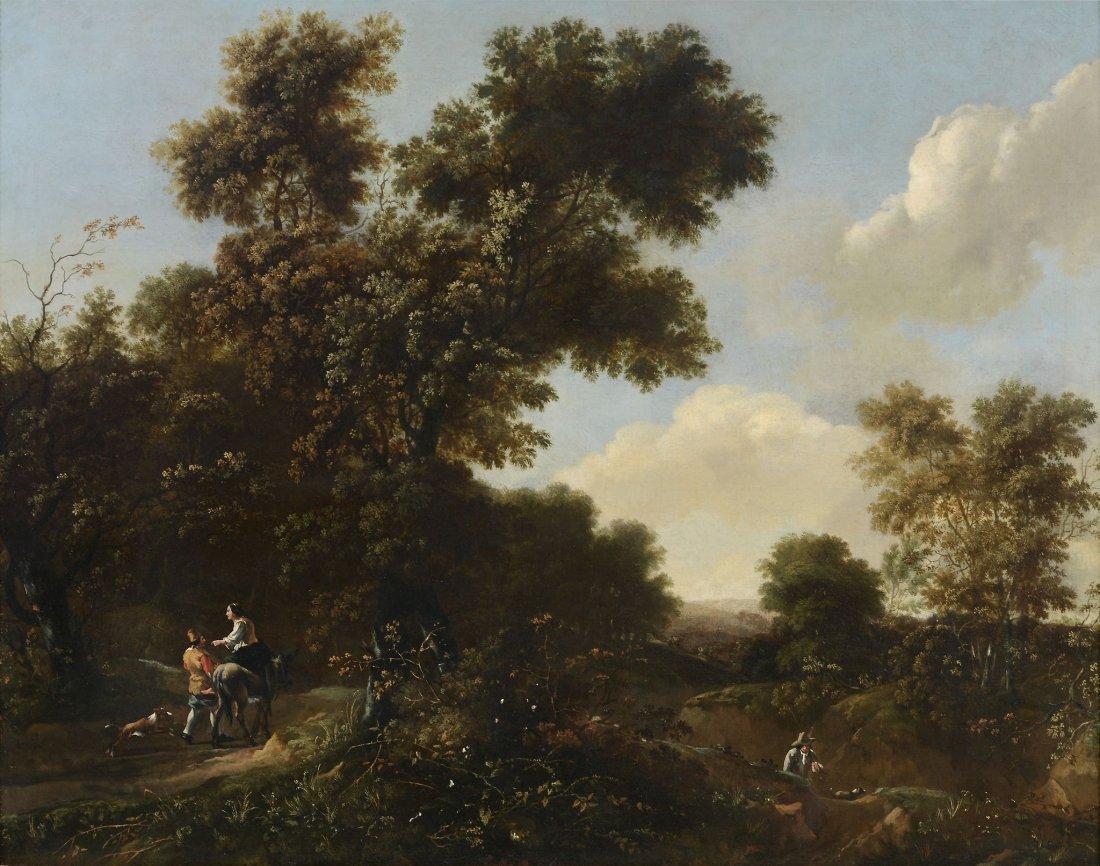 Follower of Jan Looten (1618-1681) - A wooded landscape