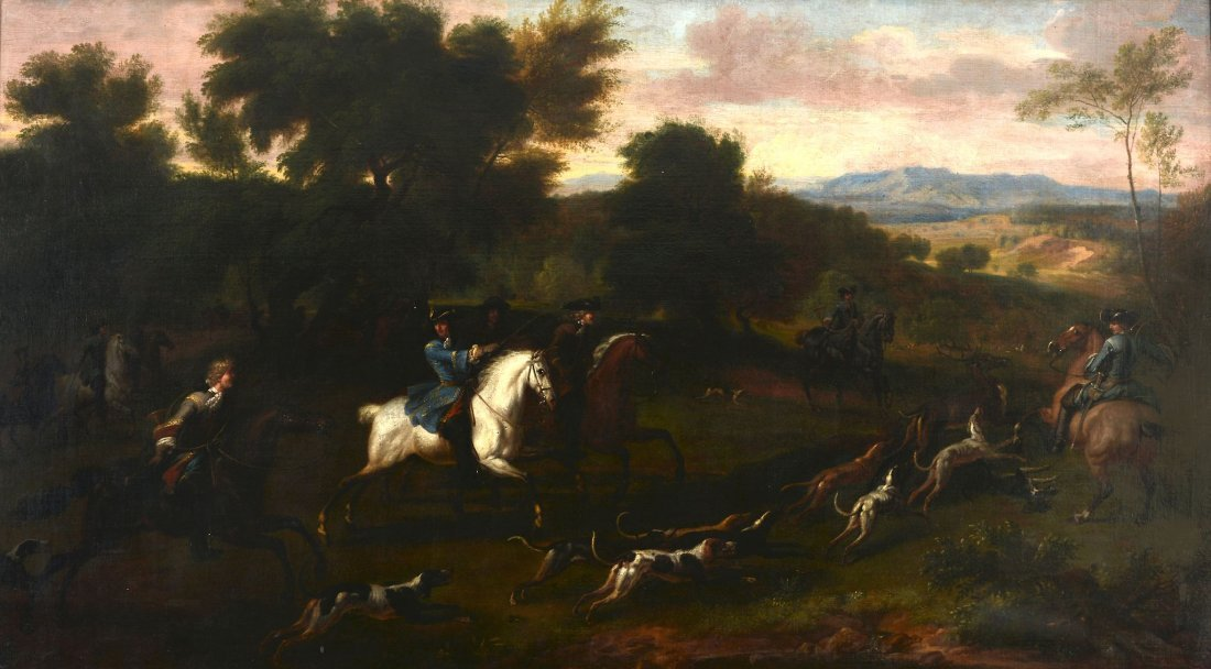 Attributed to Jan Wyck (1640-1700) - A Royal Hunt,