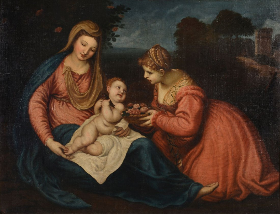 Follower of Tiziano Vecellio, called Titian - Virgin