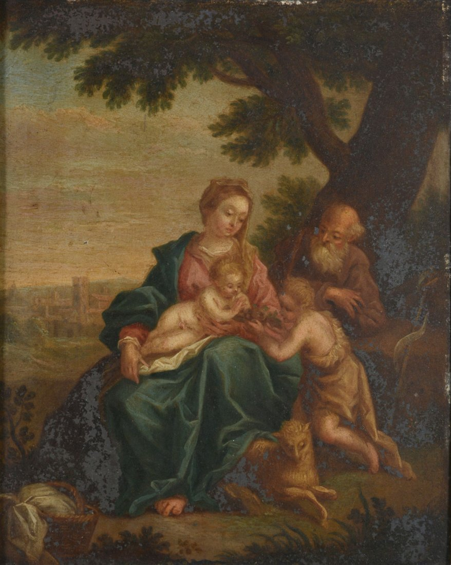 Follower of Scarsellino (1550-1620) - The Holy Family