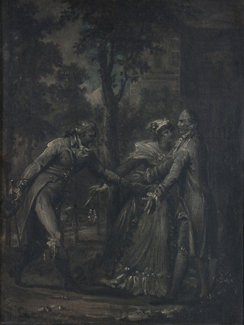 French School (19th century) - Three figures in a