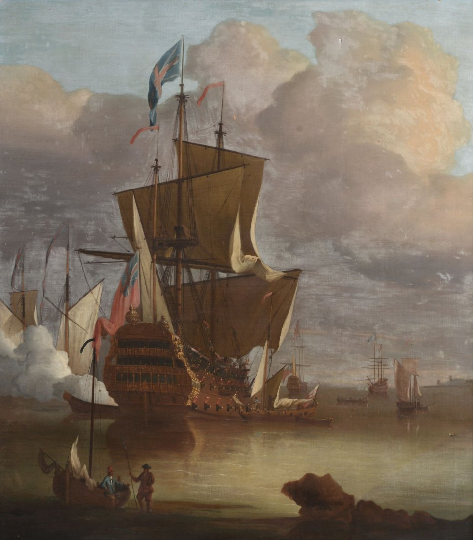 Circle of Peter Monamy (1689-1749) - Firing the salute