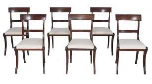 A set of six Regency mahogany dining chairs, circa 1815