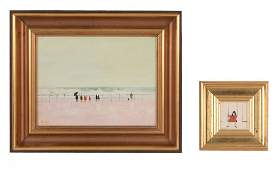 Janet Ledger (b.1934) - Figures on a promenade