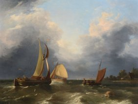 Edward Williams (1782-1855) - Dutch Fishing Vessels